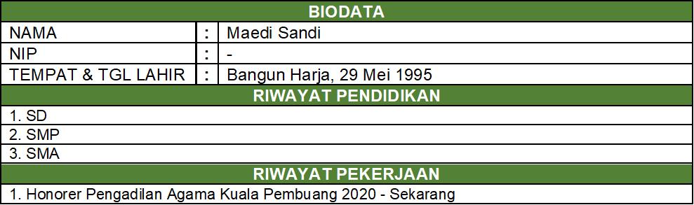 biodata sandi